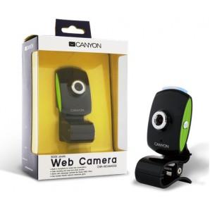 Camara Web CANYON 300K Sensor CMOS Negro/Verde