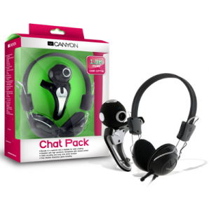 Chat Pack CANYON Camara WEB 1.3 MP + Microfono C/Audifono Stereo USB
