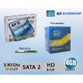 COMBO ACTUALIZACION: Intel i3 2120 3.30 Ghz + Tarjeta Madre ECS H61H2-M12 + 4 Gb RAM DDR3